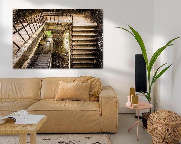 Sfeerimpressie: Verlaten trappenhuis van Samantha Schoenmakers