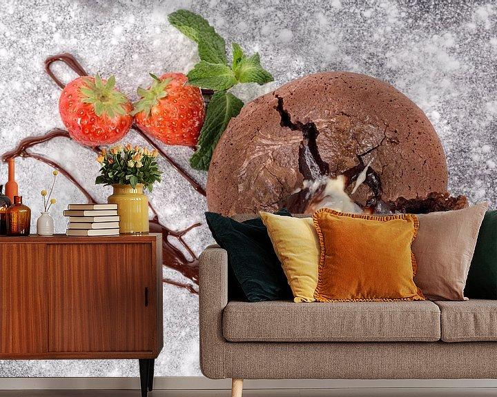 Sfeerimpressie behang: Chocolade soufflé van Miranda van Hulst
