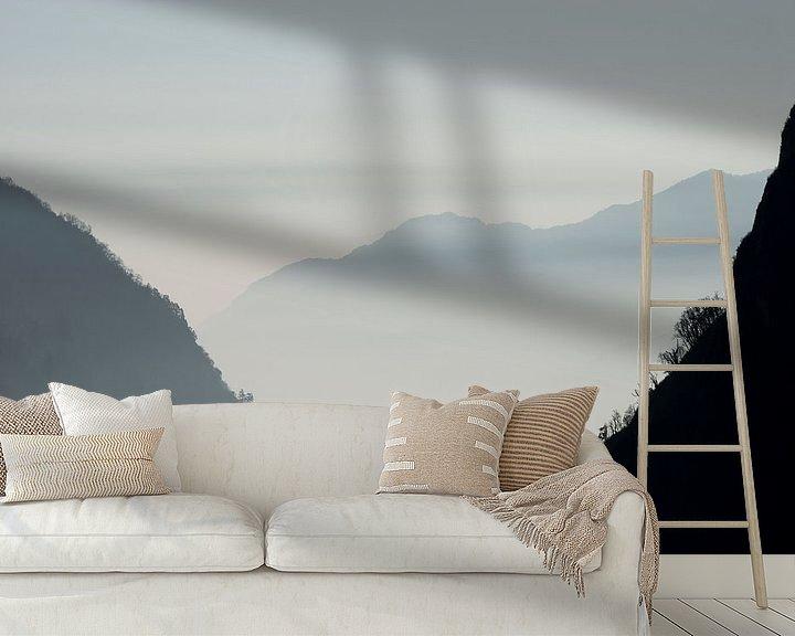 Sfeerimpressie behang: Bergen in Nepal van Ellis Peeters