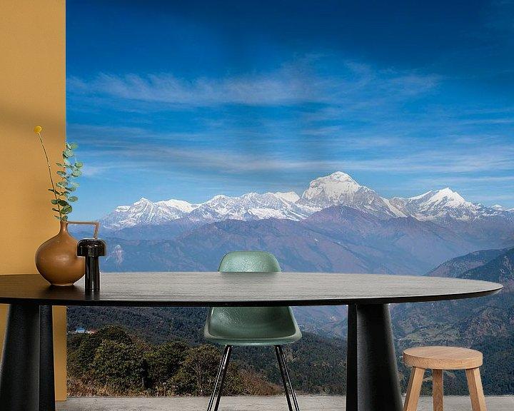 Sfeerimpressie behang: Uitzicht in Nepal van Ellis Peeters