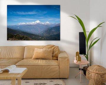 Uitzicht in Nepal van Ellis Peeters