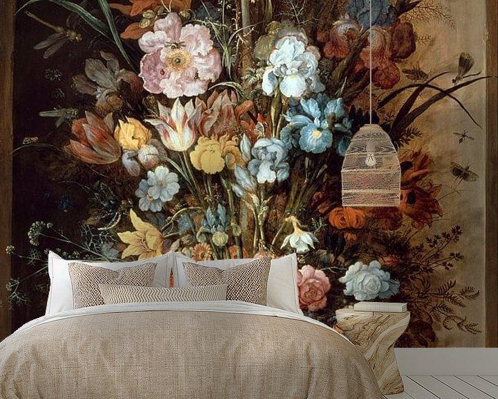 Sfeerimpressie behang: Roelant Saverij, Large flower still life with Crown Imperial