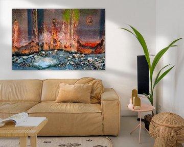 Kleurrijk roest, Opaalkust Wimereux Frankrijk