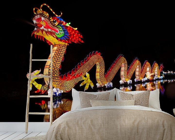 Sfeerimpressie behang: Dragon van Stefan Wapstra
