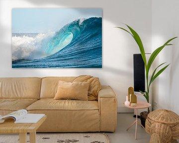 L'oeil d'une vague parfaite pour surfer dans l'océan Pacifique sur iPics Photography