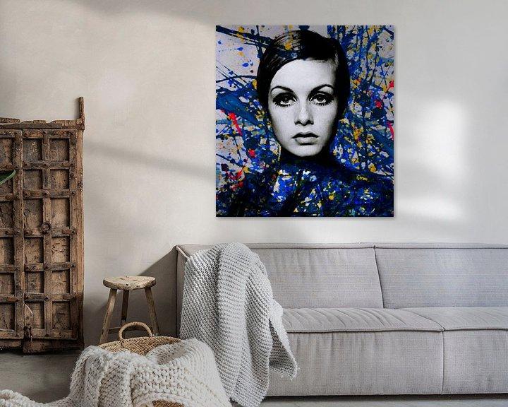 Beispiel: Miss Twiggy - Extreme Splash - Pollock Style  von Felix von Altersheim