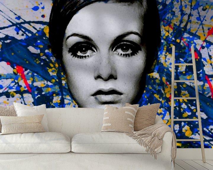 Beispiel fototapete: Miss Twiggy - Extreme Splash - Pollock Style  von Felix von Altersheim