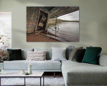 Half sunken boathouse near Chernobyl sur Andreas Jansen