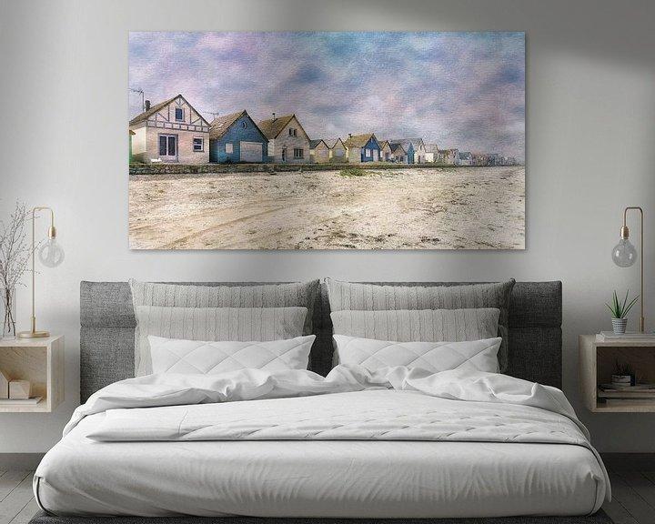 Sfeerimpressie: Aquarel van de Franse kust Normandië van Rob van der Teen
