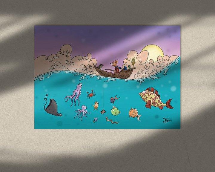 Sfeerimpressie: Vissen op de oceaan  van Jesse Boom