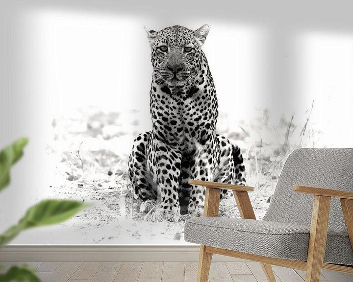 Sfeerimpressie behang: luipaard van Ries IJsseldijk