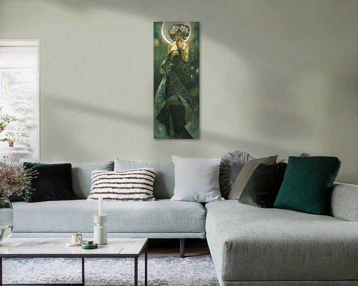 Beispiel: Der Mond und die Sterne - Jugendstil - Alfons Mucha