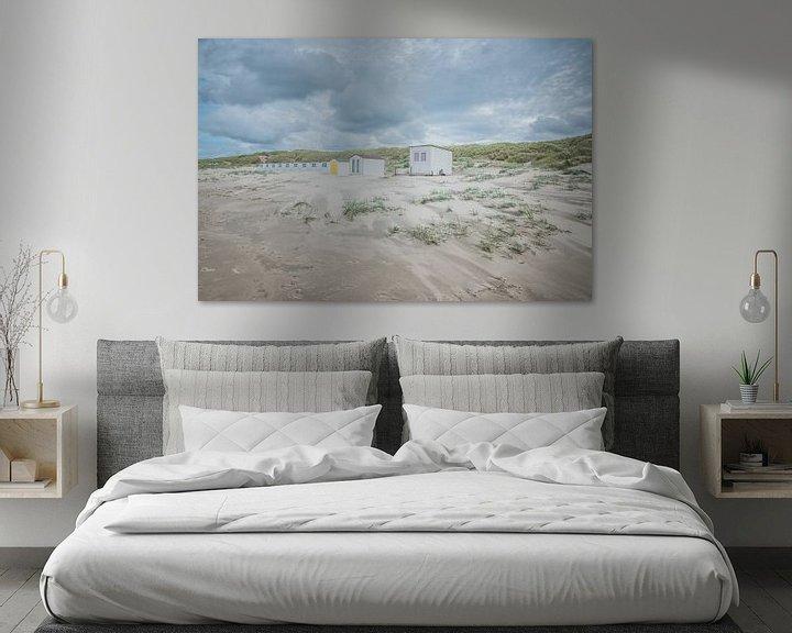 Sfeerimpressie: Strandhuisjes op strand Texel van LYSVIK PHOTOS