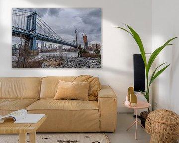 Manhattan Bridge van Rene Ladenius Digital Art