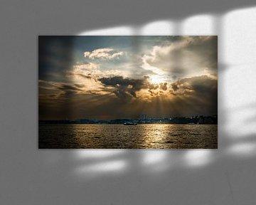 Hemel boven de Hudson river van Peter Postmus
