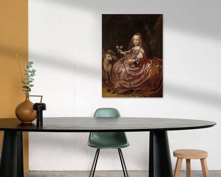 Sfeerimpressie: Portret van Clara Alewijn, Dirck Dircksz. van Santvoort