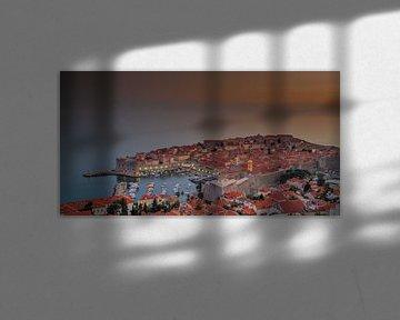 The Old city of Dubrovnik Kroatië  van Rene Ladenius Digital Art