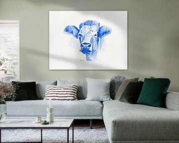 Aquarell einer Kuh von Henriëtte Mosselman
