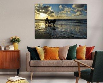 Sonnenuntergang auf Texel sur Claudia Moeckel