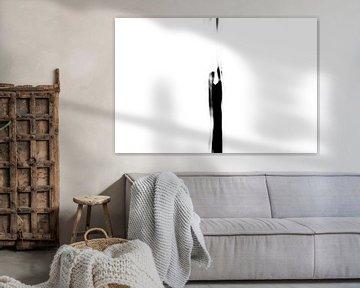 Zwei Figuren in Schwarz und Weiß von Henriëtte Mosselman