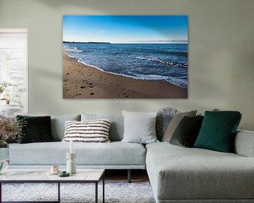 Strand an der Ostseeküste in Warnemünde von Rico Ködder