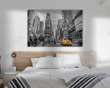 Times Square New York B&W von Rene Ladenius Digital Art