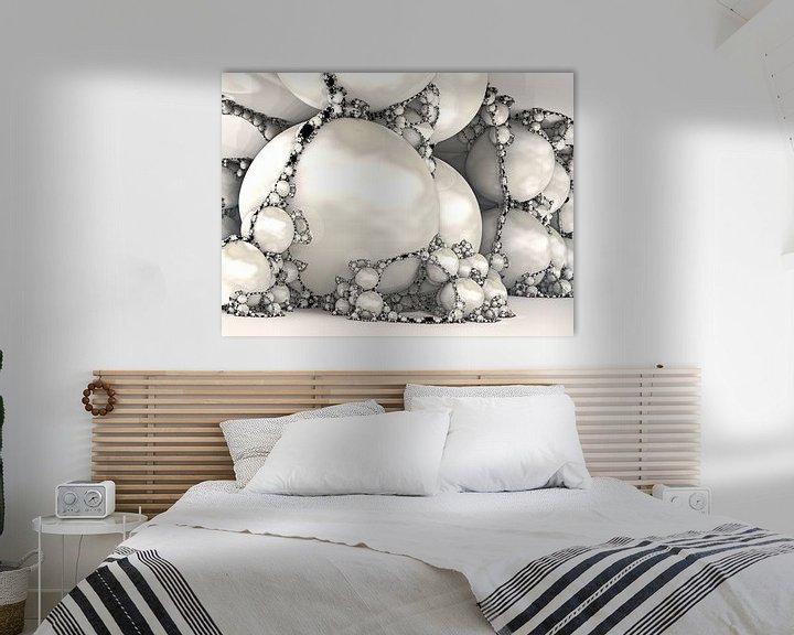 Sfeerimpressie: Fractal van marmer wit van Linda T