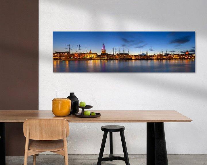 Sfeerimpressie: Stadsfront van de Hanzestad Kampen aan de IJssel van Sjoerd van der Wal