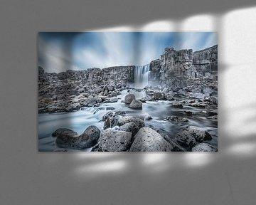 Öxarárfoss Waterval IJsland