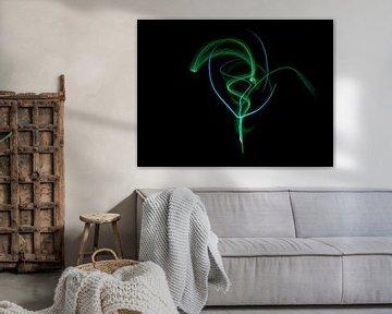 The light (in groen en blauw) van Rick Verdonschot
