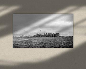 Skyline New York bij mist von Iwan Bronkhorst