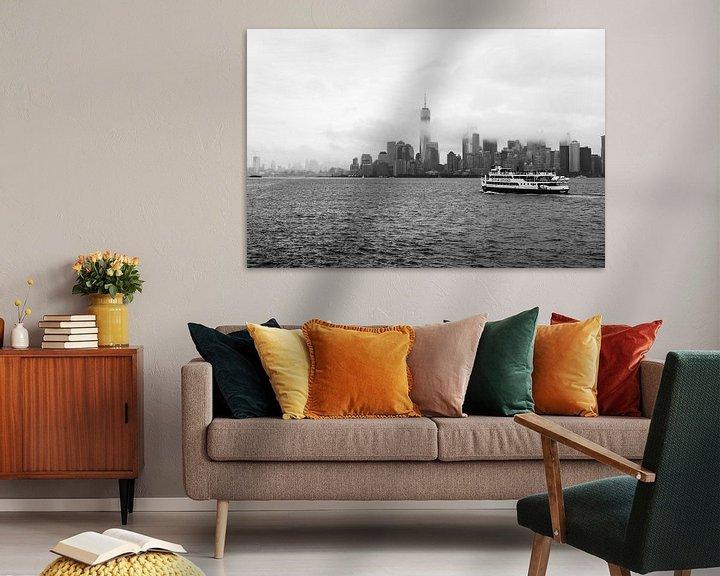 Impression: Skyline New York bij mist sur Iwan Bronkhorst