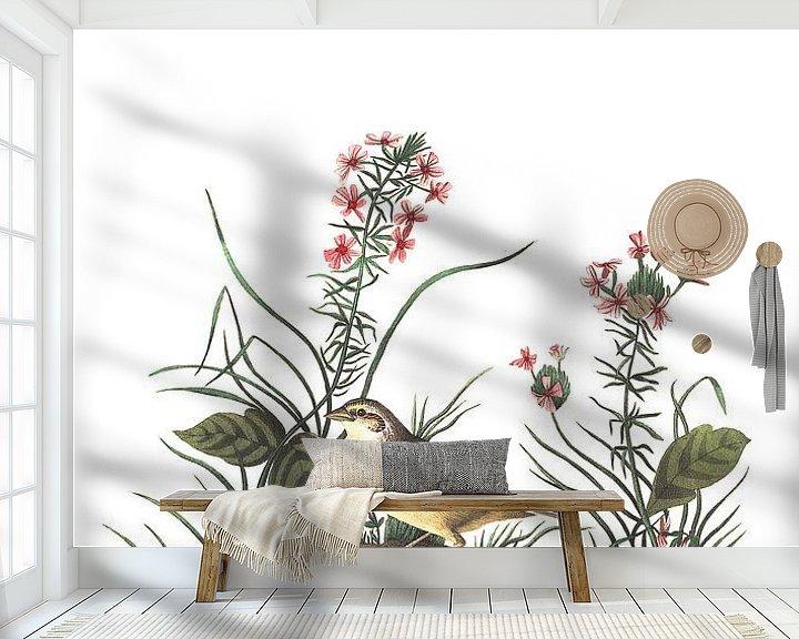 Sfeerimpressie behang: Sprinkhaangors