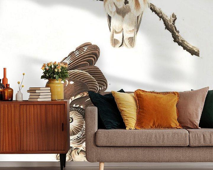 Sfeerimpressie behang: Steenuil