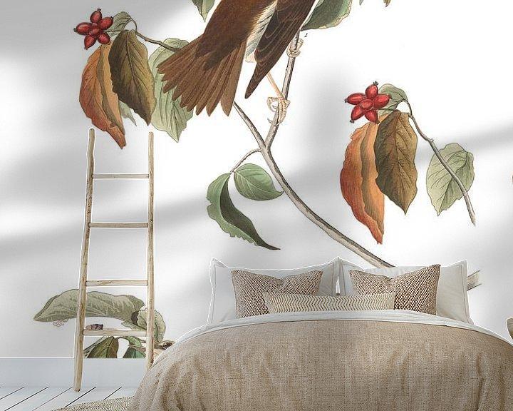 Sfeerimpressie behang: Amerikaanse Boslijster