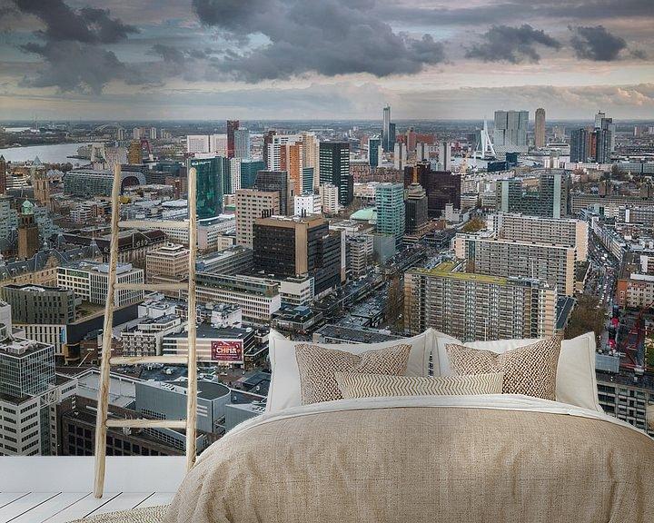 Sfeerimpressie behang: Rotterdam city van Dennis Vervoorn
