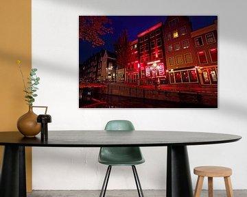 Red Light District in Amsterdam Nederland bij nacht von Nisangha Masselink