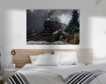 Brockenbahn kommt aus dem Nebel van Oliver Henze