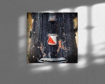 Wapen van Utrecht op lantaarnpaal op het Domplein