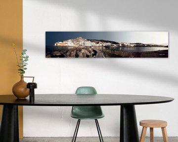 Panorama Pigadia Karpathos Griekenland van Peter Baak