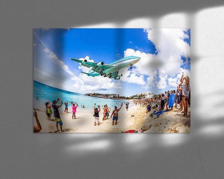 Sfeerimpressie: Laatste aankomst KLM 747 op Sint Maarten (SXM) van Dennis Janssen