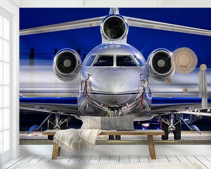 Sfeerimpressie behang: Business Jet op Schiphol Oost van Dennis Janssen
