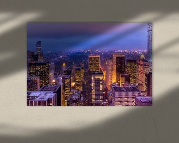 New York, central park bij Nacht von Michael Bollen