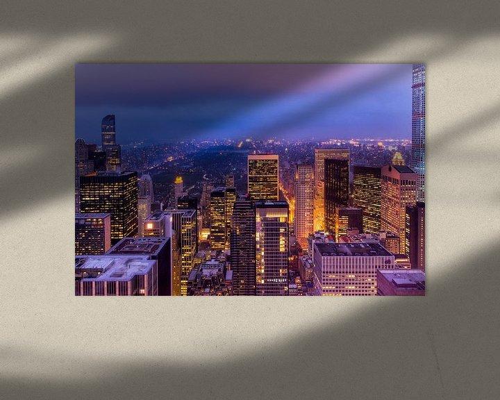 Sfeerimpressie: New York, central park bij Nacht van Michael Bollen