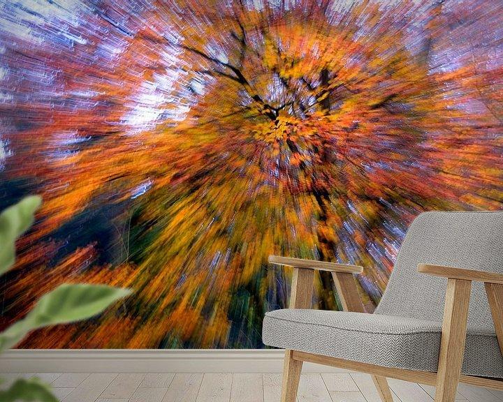 Sfeerimpressie behang: herfst explosie van Niels  de Vries