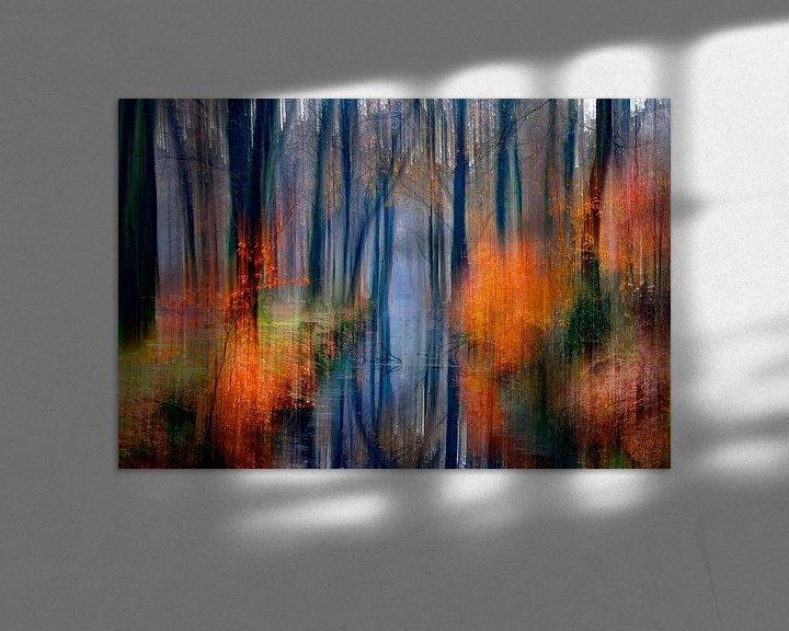 Sfeerimpressie: herfst  schilderij van Niels  de Vries