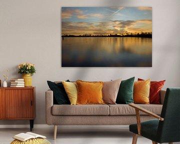 Zonsondergang Skyline Rotterdam von Jeanine Verbraak