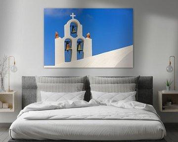 Glockenturm in Imerovigli, Santorin, Griechenland von Henk Meijer Photography