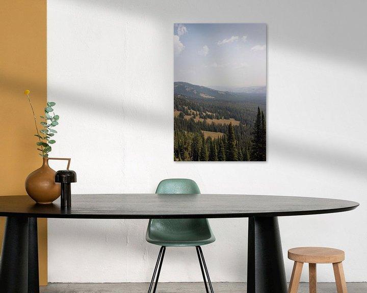 Sfeerimpressie: Uitzicht vanaf Mount Washburn; Yellowstone National Park van Jeanine Verbraak