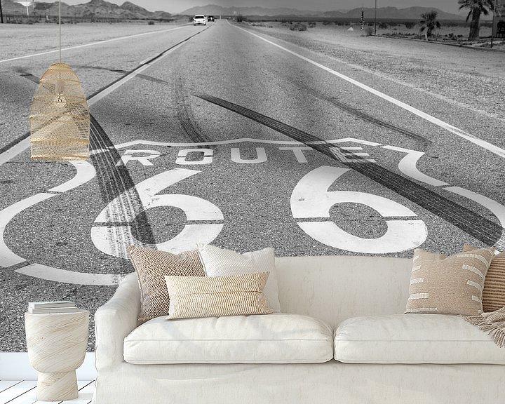 Sfeerimpressie behang: Route 66 van Chicago naar Los Angeles van Loek van de Loo